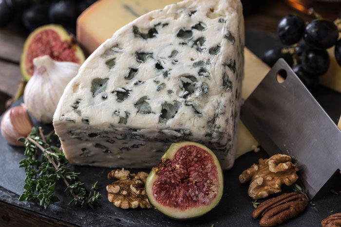 queso azul para la dieta con lacteos